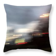 Night Cityscape Throw Pillow