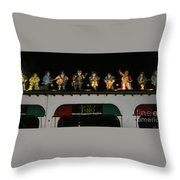 Night Club Bebotero  Throw Pillow