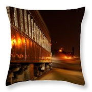 Night Coach Throw Pillow