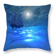 Night Crossing Throw Pillow