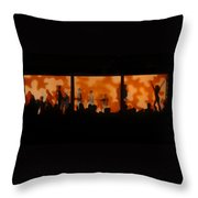 Night Dance Throw Pillow