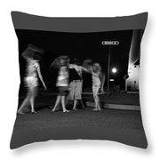 Night Dancing Throw Pillow