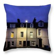 Night Darkens The Street Throw Pillow