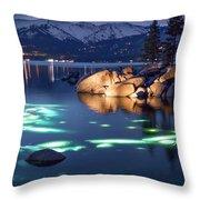Night Dive - Lake Tahoe Throw Pillow