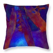 Night Feathers   -019 Throw Pillow