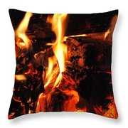 Night Fire  Throw Pillow