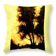 Night Fishing Throw Pillow