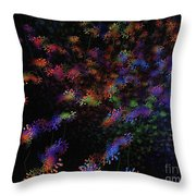 Night Flowers Throw Pillow