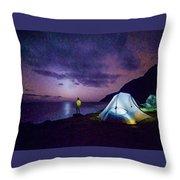 Night Gazer Throw Pillow by Artistic Panda
