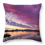 Night Gives Way To Dawn Throw Pillow