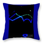 Night Glasses Abstract Throw Pillow