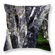 Night Grove Throw Pillow