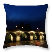Night In Amboise Throw Pillow