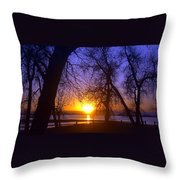 Night In Barr Lake Colorado Throw Pillow