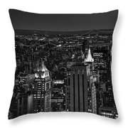 Night In Manhattan Throw Pillow