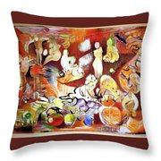 Night In Nablus Throw Pillow