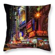 Night In The Big Apple Throw Pillow