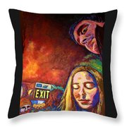 Night In The City  Throw Pillow