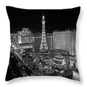 night in Vegas Throw Pillow