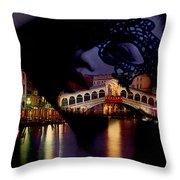 Night In Venice Throw Pillow