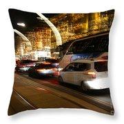Night In Vienna City Throw Pillow