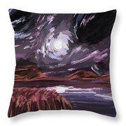 Night Land Throw Pillow
