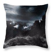 Night Landscape. Australian Mountain View Throw Pillow
