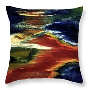 Night Lava #02 Throw Pillow