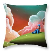 Night Lights Throw Pillow by Cindy Thornton