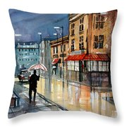 Night Lights Throw Pillow by Ryan Radke