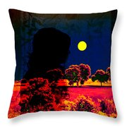 Night Loneliness Throw Pillow