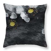 Night Lotus Throw Pillow