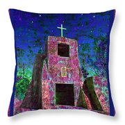 Night Magic San Miguel Mission Throw Pillow