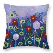Night Meadow Throw Pillow
