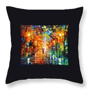 Night Mood In The Park Throw Pillow