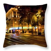 Night Moods San Jose Ca  Throw Pillow