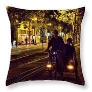 Night Moods Streets Of San Jose   Throw Pillow