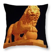 Night Of The Lion Throw Pillow