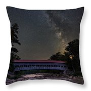 Night On The Swift River Throw Pillow