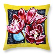 Night Orchids Throw Pillow