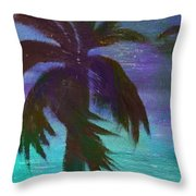 Night Palm Throw Pillow