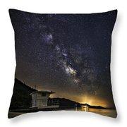 Night Patrol Lake Tahoe Throw Pillow