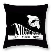 Night Raider Ww2 Malaria Poster Throw Pillow