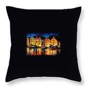 Night Resting Original Oil Painting  Throw Pillow