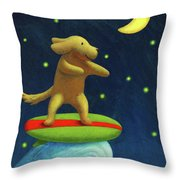 Night Rider Throw Pillow