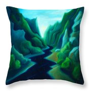 Night River Throw Pillow