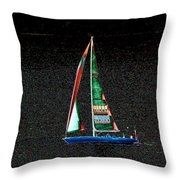 Night Sail 2 Throw Pillow
