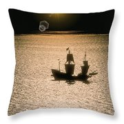 Night Sail Throw Pillow