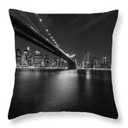 Night Scape Bw Throw Pillow