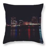 Night Scape Throw Pillow